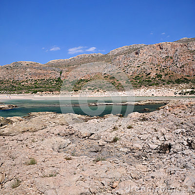 Balos, a lagoon of three seas near Gramvousa
