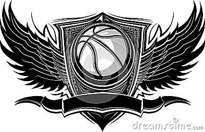 Balowej koszykówki graficzny ozdobny szablon