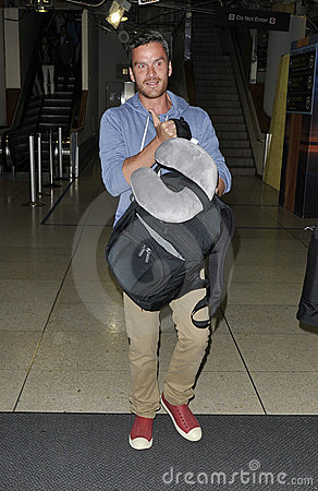 Balthazar Getty at LAX airport Editorial Stock Photo