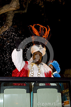 Balthazar King at the Biblical Magi parade Editorial Photo