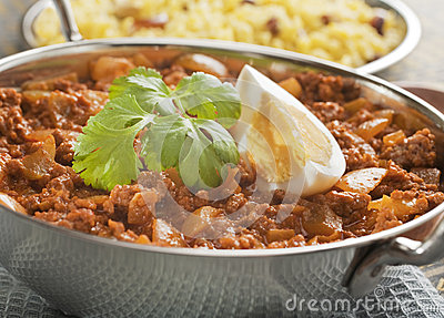Balti Keema Curry and Rice