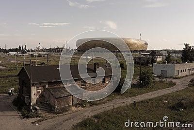 Baltic Arena Stadium Editorial Stock Photo
