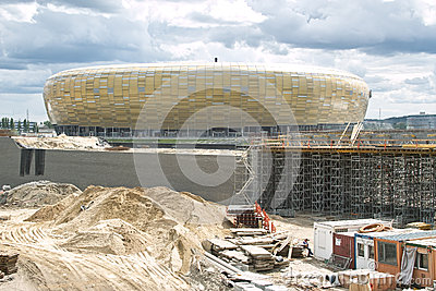 Baltic Arena Stadium. Editorial Photography