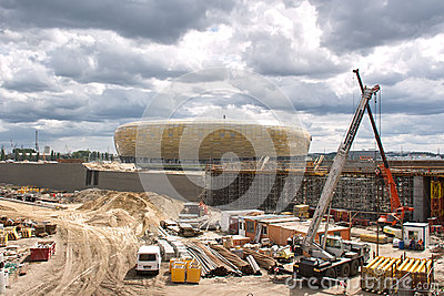 Baltic Arena Stadium. Editorial Image
