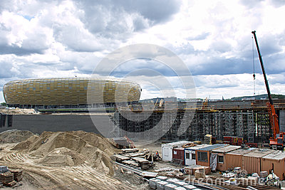 Baltic Arena Stadium. Editorial Photography