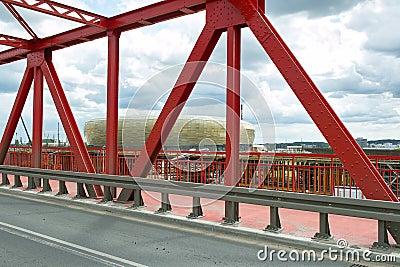 Baltic Arena Stadium. Editorial Image