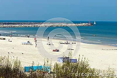 Baltic beach in Poland