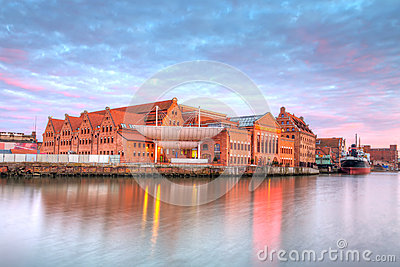 Baltic Philharmonic in Gdansk at sunset