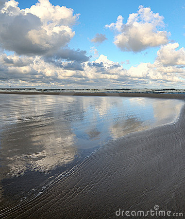 Baltic sea coastline.