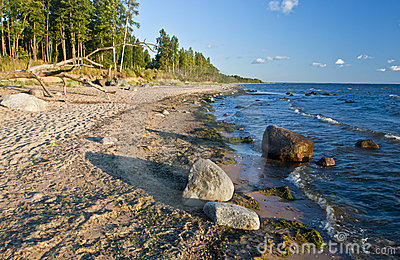 Baltic Sea at evening