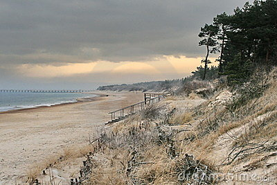 Baltic sea and sand dunes