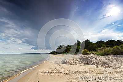 Baltic Sea with sandy beach
