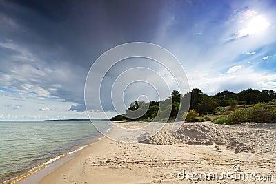 Baltic Sea with sandy beach