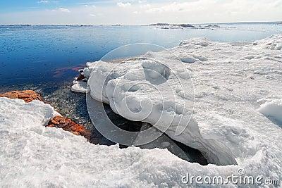 Baltic sea shore in spring