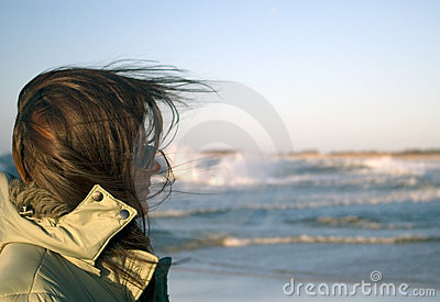Baltic sea woman