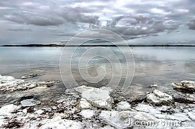 Baltic seashore and cloudscape