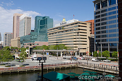 Baltimore Downtown Editorial Image