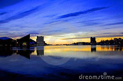 Baltimore Harbor sunrise