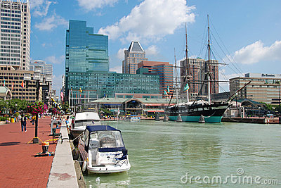Baltimore Inner Harbor Editorial Photography