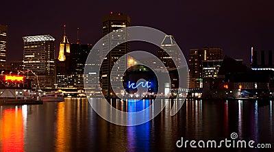 Baltimore Inner Harbor (night)