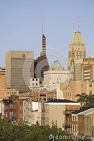 Baltimore skyline Editorial Stock Photo