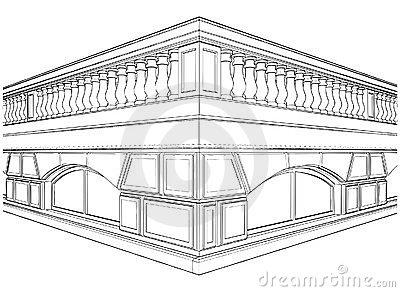 Baluster Railing On The Terrace Vector 01