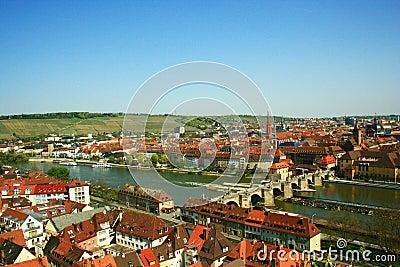 Bamberg city panorama