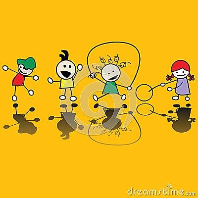 Bambini che giocano i giochi