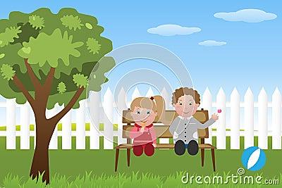Bambini con il lollipop