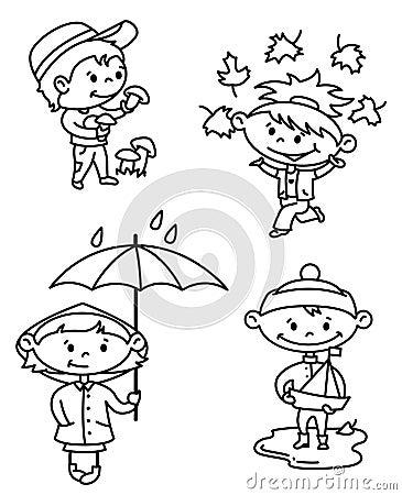 Bambini di autunno