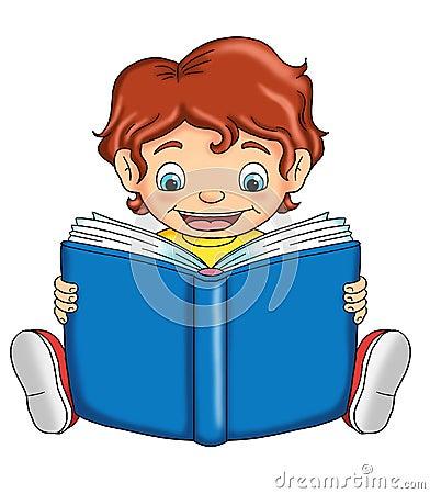 Bambino che legge immagini stock libere da diritti for Foto di un libro
