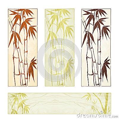 Bamboo banner set