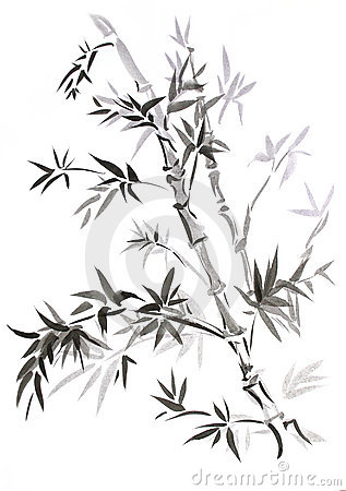 Bamboo, drawn in east style