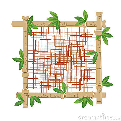Bamboo and fabric