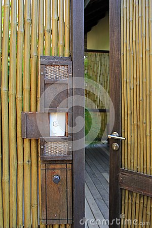 Bamboo fence and door