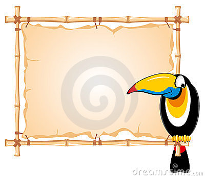 Bamboo frame and toucan