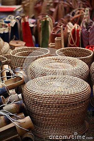 Bamboo garden seats