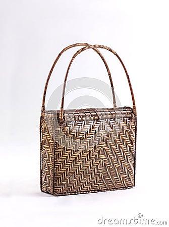 Free Bamboo Handbag Royalty Free Stock Photos - 97896218