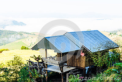 BAMBOO HOUSE ON THE MOUNTAIN