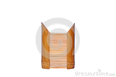 Bamboo lamp isolated