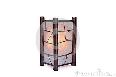 Bamboo lamp isolated