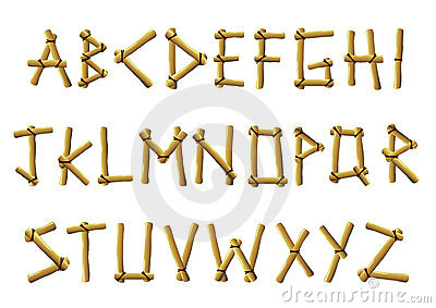 Bamboo letters