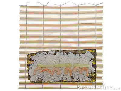 Bamboo mat for cooking sushi