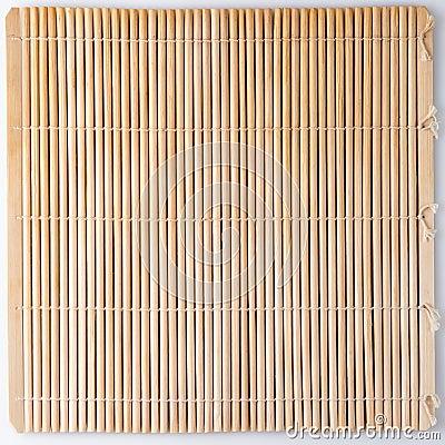 Bamboo mat for sushi.