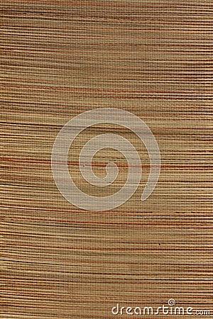 Bamboo mat texture yoga