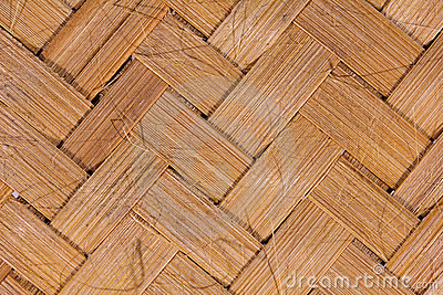 Bamboo matting background.