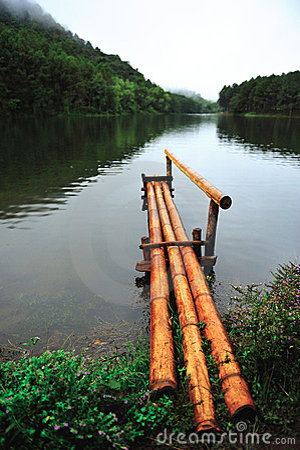 Bamboo pier