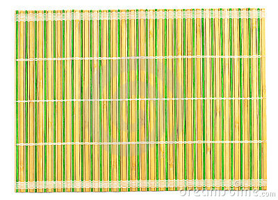 Bamboo placemat isolated