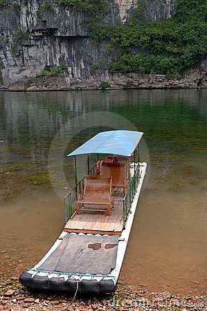 Bamboo raft in Li River