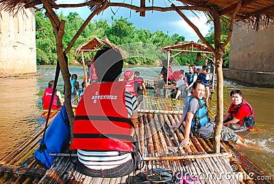 Bamboo Rafting in Kanchanaburi Editorial Image